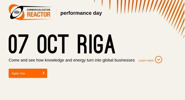 В Риге 7 октября состоится встреча с сооснователями латвийских технологических стартапов - Commercialization Reactor Performance Day