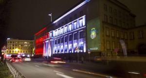 Инсталляция на здании Кабинета министров на фестивале Staro Rīga. Фото: smartlatvia.lv