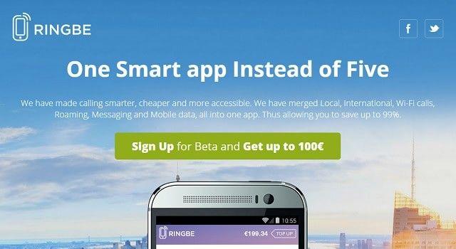 На рынок вскоре выйдет приложение RingBe, которое позволит снизить расходы на международную мобильную связь на 70-90%