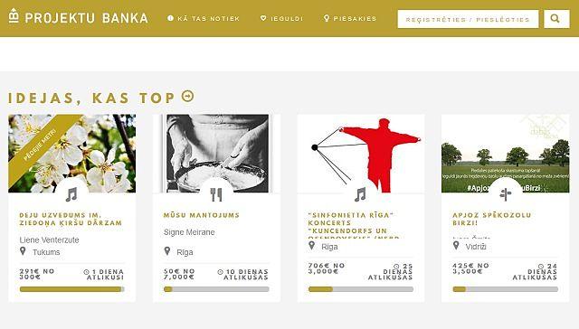 В Латвии заработала своя платформа для краудфандинга – projektubanka.lv